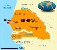 dakar sur la carte du Sénégal