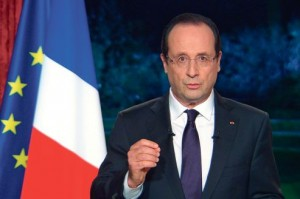 FRANCE-NEW YEAR-POLITICS-WISHES-HOLLANDE