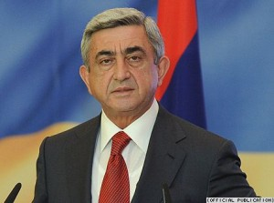 Président  arménien Serge Sarkissian