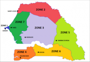 Zones_militaires_sénégal_carte_map