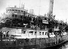 bateau juifs européens vers palestine