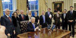 trump et ses conseillers