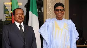 président du nigéria et du cameroun
